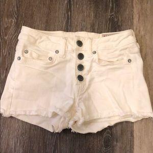 White jean all saints shorts